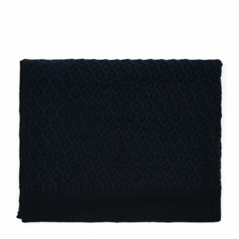 RM Knitted Cable Throw 180x130 blue 481980