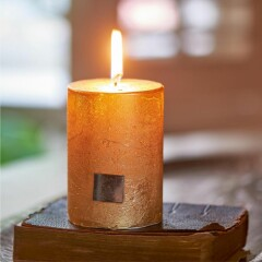 Rustic Candle gold 7 x 10 315880 2