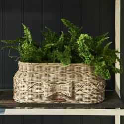 Rustic Rattan Bow Planter Oval 486860 2