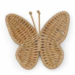 Rustic Rattan Butterfly Decoration 472510 1