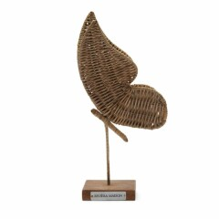 Rustic Rattan Butterfly Statue 472490 1