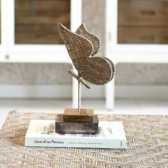 Rustic Rattan Butterfly Statue 472490 2