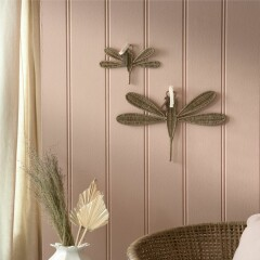 Rustic Rattan Dragonfly Decoration S 472640 2