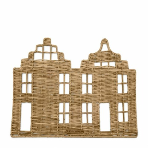 Rustic Rattan Happy Home Placemat 466410