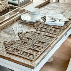 Rustic Rattan Happy Home Placemat 466410 2