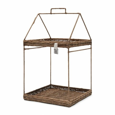 Rustic Rattan House Cabinet Tray Square 458520