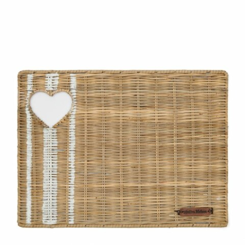 Rustic Rattan With Love Placemat 478110