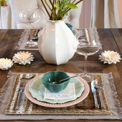 Rustic Rattan With Love Placemat 478110 2