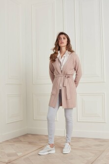 Cardigan with different rib stitch at sleeve and body 1010126-121 2