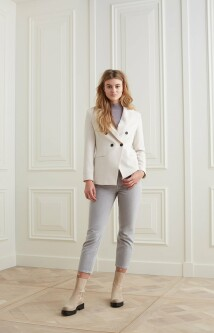 Double breasted blazer in een viscose mix 1501092-123 2