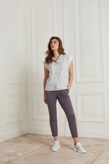 Jersey stretch pant in lyocell blend fabric 1219082 1