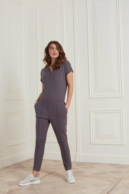 Jumpsuit in een lyocell mix jersey stof 1249030-121
