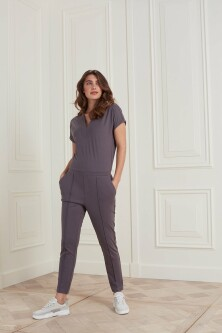 Jumpsuit in een lyocell mix jersey stof 1249030-121 1