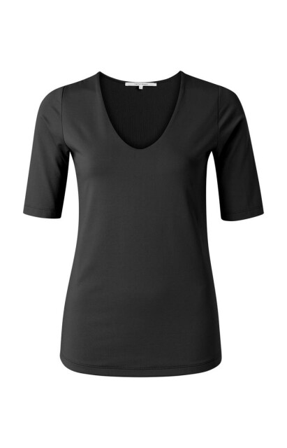 Round v-neck top with half sleeves 1909264-121