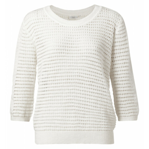 Structure knitted sweater with 3/4 sleeves 1000288-114